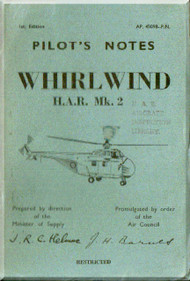 Westland Whirlwind  Helicopter Pilot's Notes Manual