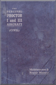 Percival Proctor I & III  Aircraft  Maintenance &  Repair  Manual