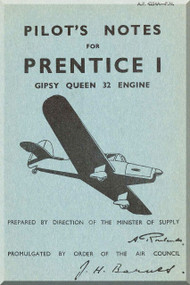 Percival Prentice I Aircraft  Pilot's Notes Manual