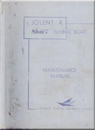 Short Solent 4 Aircraft  Maintenance Manual