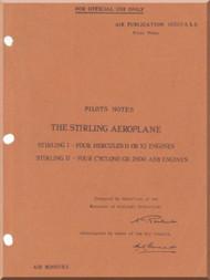 Short Stirling  Aircraft  Pilot's  Notes Manual AP 1660 A B