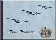 Scottish Aviation Twin Pioneer  Aircraft  Promotional Brochure Manual
