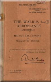 Supermarine Walrus  Aircraft Technical Manual -  ( English Language ) Air Publication 1515A , 1938