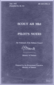 Westland Scout Helicopter Pilot's Notes Manual