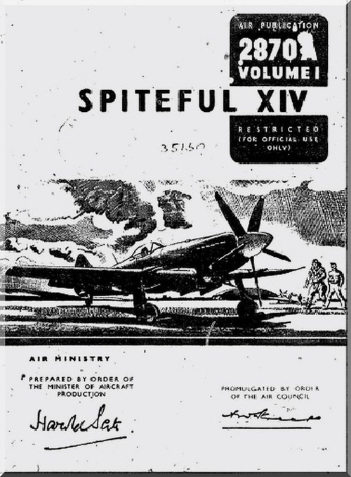 Supermarine Spiteful XIV Aircraft technical Manual