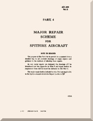 Supermarine Spitfire F Mk  1 & Mk.5 Aircraft Major Repairs  Scheme  Manual -  Air Publication 1565 A & E Volume 2-  Part 4