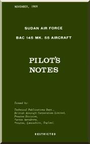 BAE BAC 145 Strikemaster  Mk.55  Aircraft Pilot's Notes Manual