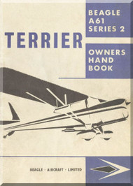 Beagle A.61 Series 2 Aircraft Owner Handbook  Manual
