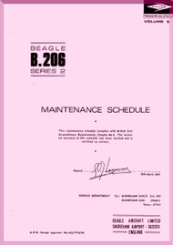 Beagle B.206 Aircraft Maintenance  Schedule Manual
