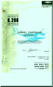 Beagle B.206 Aircraft Wiring Diagrams Manual