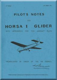 Airspeed Horsa I Glider Aircraft Pilot's Notes Manual