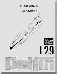 Aero Vodochoy L-29 Dolphin Aircraft Flight  Manual, ( English Language )