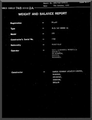 Avro Andover / BAe / Hawker Siddeley 748   Aircraft  Weight and Load  Manual