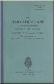 Hawker Hart  Aircraft Technical Manual -   Air Publication 1404 A, Vol.  1 2n edition August 1932