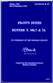 Hawker Hunter  T Mk.7 and Mk 7A  Aircraft Pilot's Notes Manual