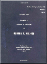 Hawker Hunter  Mk.66 E  Aircraft Technical Manual -  Schedule of Equipment