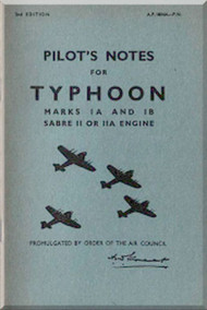 Hawker Typhoon Aircraft  Pilot's Notes Manual