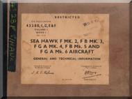 Hawker Sea Hawk F.2  Aircraft Maintenance Manual - A.P. 4328B, C,D,E & F