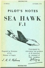 Hawker Sea  Hawk  F.1 Aircraft  Pilot's Notes Manual