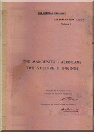 A. V. Roe Avro Manchester Aircraft  Pilot's Notes Manual
