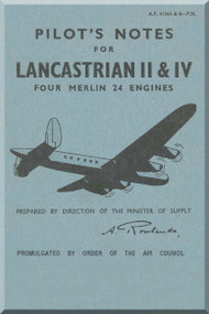 A. V. Roe Avro Lancastrain   II & IV Aircraft Pilot's Notes Manual
