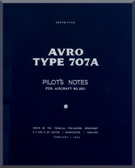 A. V. Roe Avro 707 A   Aircraft Pilot's Notes Manual