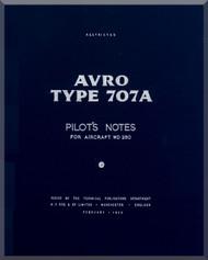 A. V. Roe Avro 707 A   Aircraft Pilot's Notes Manual