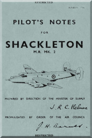 A. V. Roe Avro Shackleton  Mk. II  Aircraft Pilot's Notes Manual