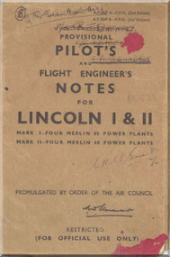 A. V. Roe Avro Lincoln  I & II Aircraft Pilot's Notes Manual