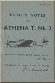 A. V. Roe Avro Athena  Aircraft Pilot's Notes Manual -   A.P. 4289 - P.N. , 1945