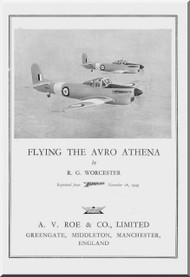 A. V. Roe Avro Athena  Aircraft Pilot Report Manual
