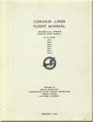 Convair 240 Aircraft Flight  Manual