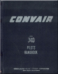 Convair 340 Aircraft Pilot Handbook Manual