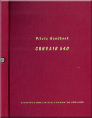 Convair 540  Aircraft Pilot Handbook Manual -