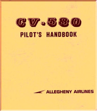 Convair 580  Aircraft Pilot Handbook Manual - Allegheny