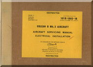 A. V. Roe Avro Vulcan  B Mk.2 Aircraft Service  Manual -  - 101B-1902-1B , Cover 2 , 1968