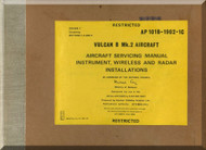 A. V. Roe Avro Vulcan  B Aircraft  Service Manual  - 101B-1902-1C - Cover 1