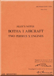 Blackburn Botha I Aircraft Pilot's Notes Manual