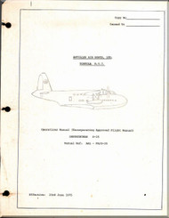 Short Aircraft  Sandringham S.25 Aircraft  Operating  Manual
