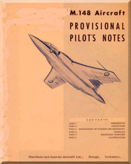 Blackburn Buccaneer M.148 Aircraft Pilot's Notes Manual