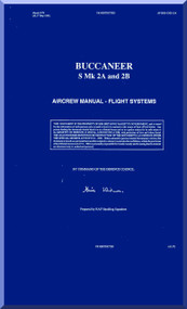 Blackburn Buccaneer S Mk. 2A ,B Aircraft Aircrew Notes Manual