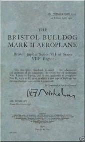 Bristol Bulldog Mk. II Aircraft Maintenance Manual