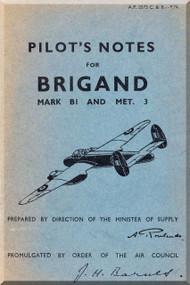 Bristol Brigand Aircraft  Pilot's Notes Manual