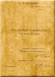 Handley Page Halifax V  Aircraft  Service Manual     AP 1719E