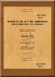 Handley Page Halifax III &  C III  Aircraft Service Manual  A.P. 1719C
