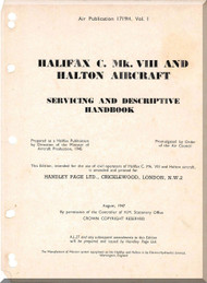 Handley Page Halifax C VIII  Aircraft  Service Manual  AP 1719H