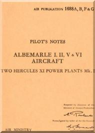 Armstrong Whitworth Albemarle Aircraft Pilot's Notes Manual