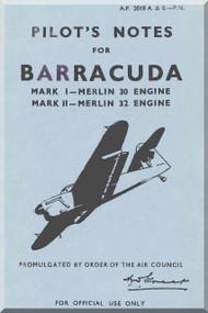 Fairey Barracuda  Aircraft Pilot's Notes Manual