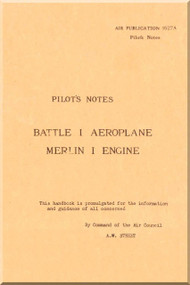 Fairey Battle I  Aircraft Pilot's Notes Manual - Air Publication 1527 A