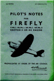 Fairey Firefly  Aircraft Pilot's Notes Manual